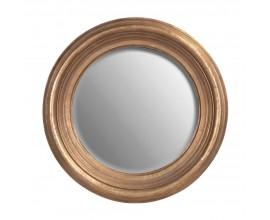Dizajnové bronzové masívne okrúhle nástenné zrkadlo Tazona 75cm