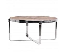 Luxusný chrómový konferenčný stolík Houston kruhového tvaru 101cm