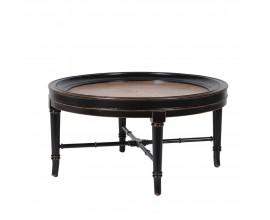 Koloniálny kruhový konferenčný stolík Savannah 90cm z masívu