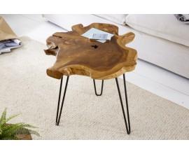 Dizajnový moderný odkladací stolík z kmeňa stromu Wild 55cm
