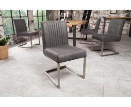 Industriálna jedálenská stolička Inspirativo 87cm v sivej farbe