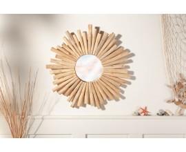 Dizajnové okrúhle nástenné zrkadlo 60cm Thornton vo vidieckom štýle