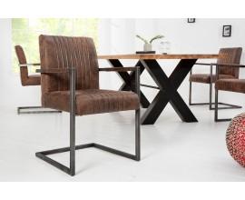 Industriálna jedálenská stolička Imperial hnedá 88cm
