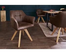 Moderná dizajnová stolička Hendry v hnedej farbe s podrúčkami  84cm