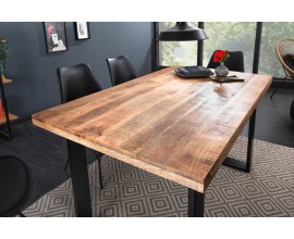 Industriálny dizajnový jedálenský stôl Steele Craft z mangového masívu s kovovými nohami  140cm
