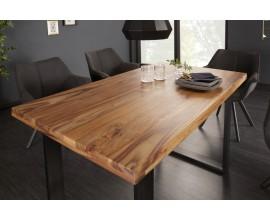 Industriálny jedálenský stôl z masívu Steele Craft 140cm čierna