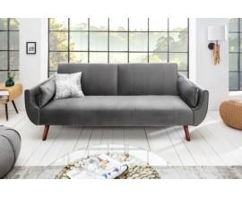 Štýlová rozkladacia sedačka DOMINGO šedý zamat
