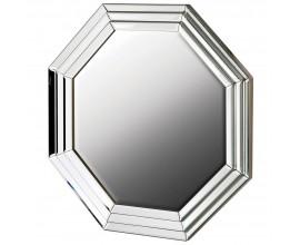 Dizajnové osemuholníkové nástenné zrkadlo Octagenn v ráme striebornej farby 76cm