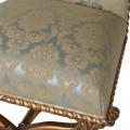 Zámocká luxusná jedálenská stolička Roi Gilt s ornamentálnym poťahom v béžových odtieňoch so zlatými nohami 107cm