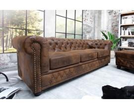 Luxusná elegantná pohovka Chesterfield 205cm