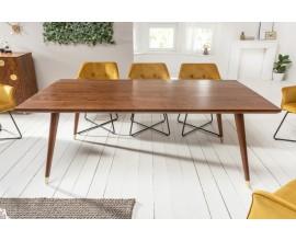 Masívny jedálenský stôl Roslin z akáciového dreva a so zlatým prvkom na nohách 200cm