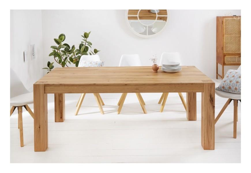 Škandinávsky masívny jedálenský stôl Linton s hranatými nohami 200cm