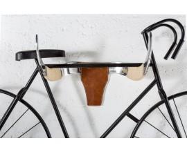 Dizajnová vidiecka nástenná dekorácia Matador v tvare býčej hlavy z kože a zliatiny kovu hnedo-striebornej farby