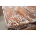 Orientálna vyrezávaná truhlica Rosthall z masívneho dreva bielej farby 65cm