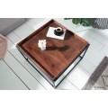 Industriálny drevený konferenčný stolík Elements s bukovou povrchovou doskou a kovovými nohami