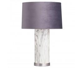 Art-deco luxusná vysoká stolná lampa Arigentte s podstavcom s mramorovým vzhľadom 65cm