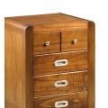 Koloniálny štýlový nočný stolík Flash z masívneho dreva mindi 60cm