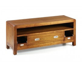 Koloniálny luxusný TV stolík Flash z masívneho dreva mindi 115cm