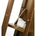 Koloniálna luxusná vitrína Flash z masívneho dreva mindi 190cm