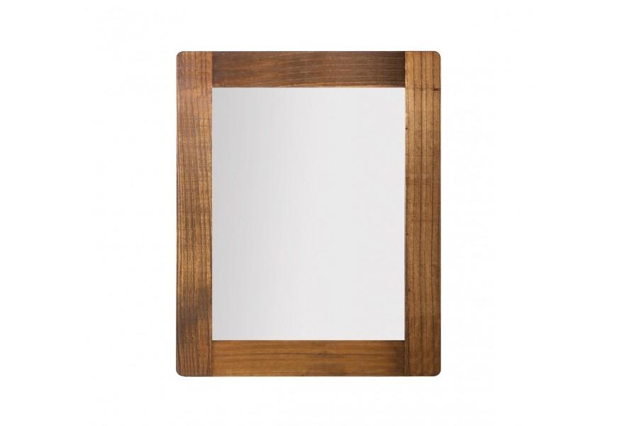 Štýlové nástenné zrkadlo Flash z masívneho dreva mindi 100cm