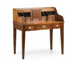 Koloniálny luxusný písací stôl so sekretárom Flamingo z masívneho mahagónového dreva 106cm