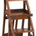 Koloniálna skladacia stolička Flamingo z masívneho mahagónového dreva 90cm