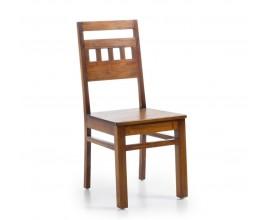 Koloniálna masívna stolička Flamingo z mahagónového dreva 98cm