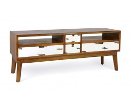 Dizajnový TV stolík NORSE z masívu
