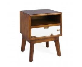 Dizajnový masívny nočný stolík NORSE