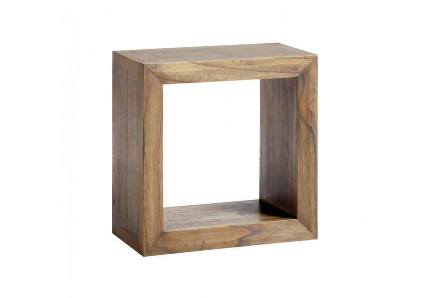 Štýlová polička štvorcová z masívu Merapi