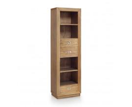 Koloniálna knižnica Merapi z masívneho dreva mindi so zásuvkami a poličkami 190cm
