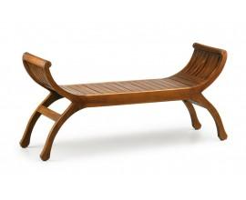 Luxusná masívna lavica M-Vintage z mahagónového dreva hnedej farby s nožičkami