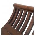 Koloniálna masívna lavica M-VINTAGE z mahagónového dreva na nožičkách 120cm