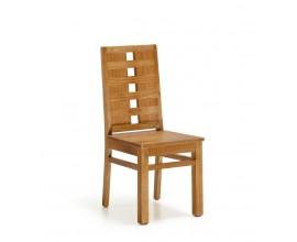 Koloniálna jedálenská stolička MADHU z masívneho dreva mindi hnedej farby 100cm