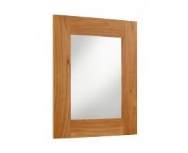 Masívne nástenné hranaté zrkadlo MADHU s rámom z dreva mindi 100cm