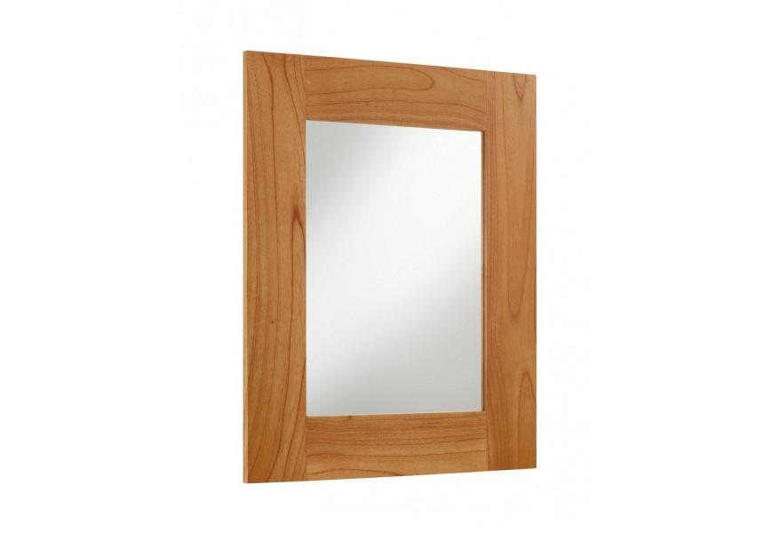 Štýlové nástenné zrkadlo Madhu obdĺžnikového tvaru s rámom z masívneho dreva mindi hnedej farby
