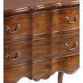 Rustikálna masívna komoda M-VINTAGE z mahagónového dreva s dvomi zásuvkami 90cm