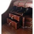 Rustikálny chippendale písací stolík M-VINTAGE z masívneho mahagónového dreva 105cm