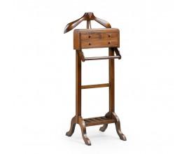 Koloniálny luxusný nemý sluha M-Vintage z masívneho dreva tmavohnedej farby 120cm