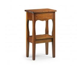 Koloniálny telefónny stolík M-Vintage z masívneho mahagónového dreva hnedej farby 74cm