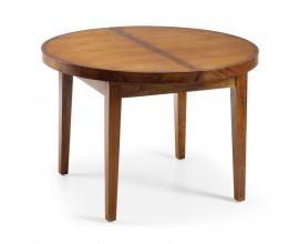 Okrúhly rozkladací jedálenský stôl Star z dreva rozkladací 170cm