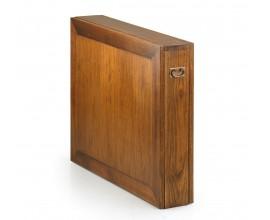 Masívny štýlový rozkladací jedálenský stôl Star z dreva mindi hnedej farby 165cm