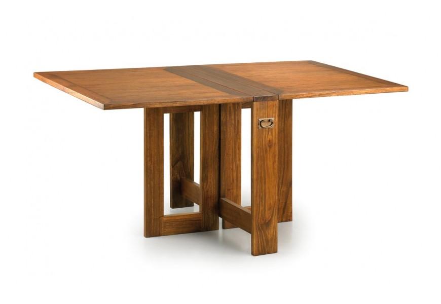 Rozkladací jedálenský stôl Star z dreva mindi hnedej farby 165cm