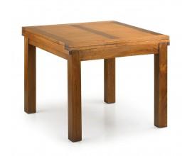 Masívny rozkladací jedálenský stôl Star z dreva mindi hnedej farby 180cm