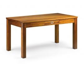 Masívny obdĺžnikový jedálenský stôl Star z dreva mindi hnedej farby 150cm