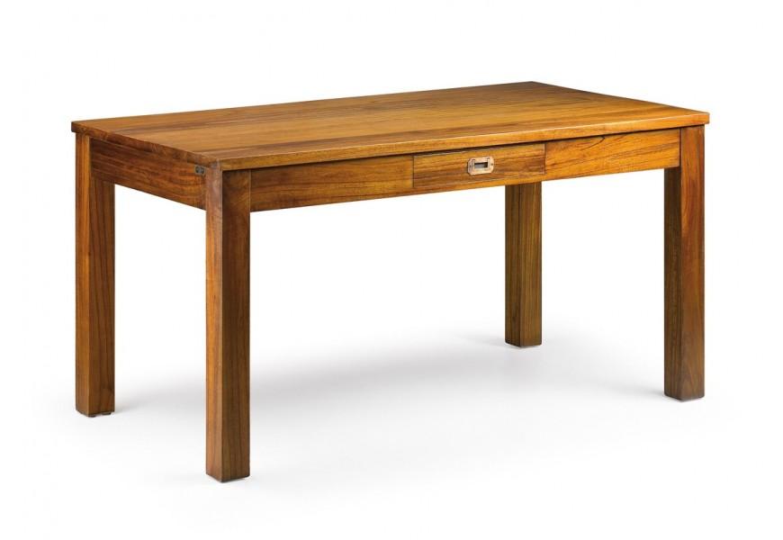Drevený klasický jedálenský stôl Star z masívu v hnedej farbe obdĺžnikového tvaru