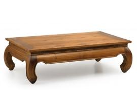 Masívny luxusný konferenčný stolík Star z dreva mindi so zaoblenými nožičkami 125cm
