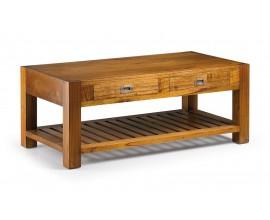 Masívny elegantný konferenčný stolík Star s dvomi zásuvkami 120cm
