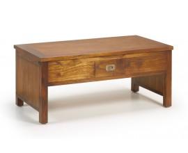 Masívny štýlový konferenčný stolík Star z dreva mindi s vyklápacou doskou a zásuvkou 110cm