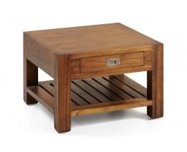 Masívny konferenčný stolík Star z dreva mindi so zásuvkou 60cm